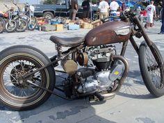 triumph rat bike, triumph chopper, triumph bobber, classic british rat bike, classic british chopper