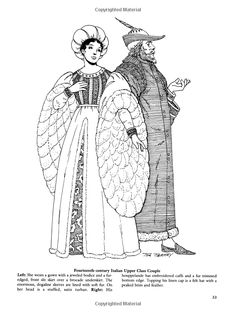Medieval fashions coloring book 91