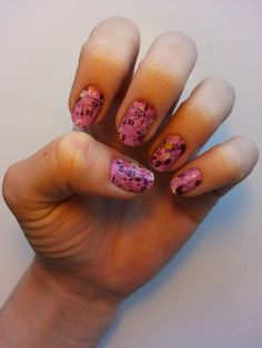 Orchid Bouquet DIY Jamberry Manicure