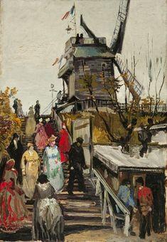 De Molen 'Le blute-fin' van Vincent van Gogh (1886)