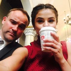"""""""So proud of you @SelenaGomez! Loved hanging out. Love you. 😘 Photo by #Selena. #Wizards #Family #LoveYou."""" - David Deluise on Instagram."""