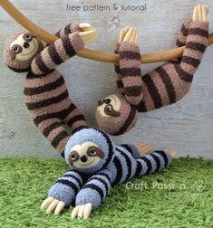 DIY Sock sloth plushie (free sewing pattern) // Puha lajhár plüssfigura zokniból és filcből - kreatív gyerekjáték // Mindy - craft tutorial collection // #crafts #DIY #craftTutorial #tutorial #DIYToys #ToyMaking #HandmadeToy