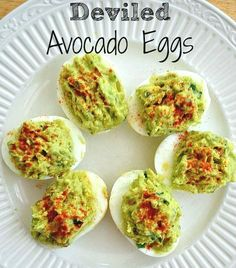 Healthy Meals These deviled avocado eggs are an amazing healthy alternative to traditional deviled eggs. - These deviled avocado eggs are an amazing healthy alternative to traditional deviled eggs. Avocado Recipes, Egg Recipes, Appetizer Recipes, Cooking Recipes, Appetizers, Cookbook Recipes, Recipies, Avocado Deviled Eggs, Snacks