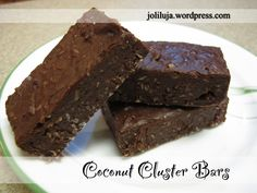 Coconut Cluster Bars