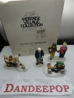 Dept. 56 Department 56 Heritage Village Nicholas Nickelby Figures 4pc Retired find me at www.dandeepop.com