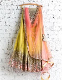 Lehenga Choli: Best Indian Lengha and Ghagra Choli Online Half Saree Lehenga, Lehnga Dress, Red Lehenga, Indian Lehenga, Yellow Lehenga, Bollywood Lehenga, Sabyasachi, Half Saree Designs, Lehenga Designs