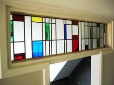 mondrian stained glass - Google Search