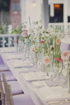 Spring wedding table: http://www.stylemepretty.com/new-york-weddings/2013/08/13/shelter-island-wedding-at-la-maison-blanche-from-dove-sparrow/ | Photography: Dove + Sparrow - http://doveandsparrow.com/