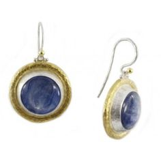 Sterling Silver layered with 24K Gold Earring featuring Kyanite by GURHAN