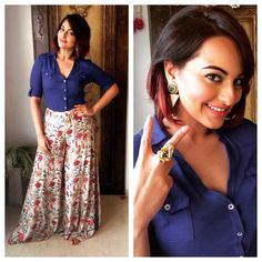 sonakshi sinha promotes #tevar on the front row.