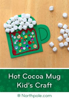 Craft Cottage - Craft Foam Hot Cocoa Mug Preschool Projects, Daycare Crafts, Classroom Crafts, Toddler Crafts, Preschool Themes, Preschool Art, Mug Crafts, Foam Crafts, Craft Foam