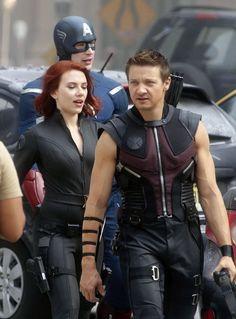 Hawkeye: Hawkeye and Black Widow and Cap