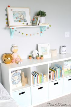 Latest Photographs Latest Pic Genius IKEA Kallax Hacks To Organize Your Entire Home Strategies. Suggestions The IKEA Kallax collection Storage furniture is an important element of any home. They supply obta Kids Room Wall Art, Nursery Wall Decor, Baby Room Decor, Girl Nursery, Nursery Letters, Wall Letters Decor, Kids Letters, Playroom Wall Decor, Pastel Nursery