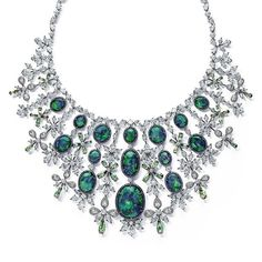 Chopard 2017 Red Carpet Collection necklace with black opals and diamonds.  @chopard