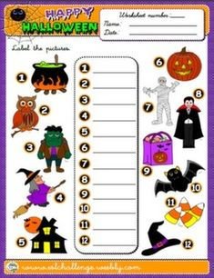 FREE WORKSHEET - HALLOWEEN #