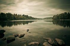 Castlewellan Lake before the rain (Explore) by {Flixelpix} David, via Flickr