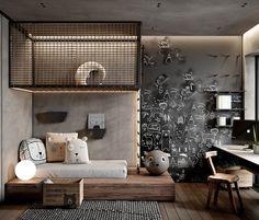 Teenage Room, Kids Room Design, Apartment Design, House Rooms, Room Interior, Interior Design, Room Inspiration, House Design, Industrial Interiors