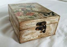 Wooden music box, Music box, Music box with birds, Decorative box, Gift box, Keepsake box, Vintage jewelry box, Wooden box, Jewelry box, Box de tossart en Etsy
