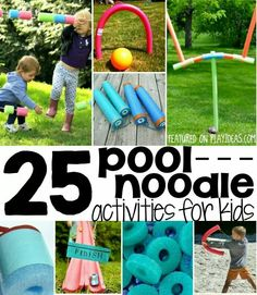 25 pool noodle activities