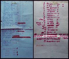 SODA STEREO: Lista de temas ensayos para los shows del Teatro Gran Rex de 1991 y la mini gira por España de 1992. Soda Stereo, Bullet Journal, Mini, Gustavo Cerati, Theater, Bands