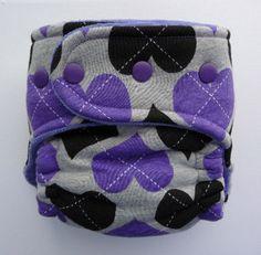 'Purple Heart' Snug Bug Diapers. I adore this diaper!! Argyle! Purple! Hearts!