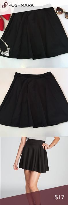 Black Skater Skirt Black skater skirt size medium                                       New, without tags Skirts Circle & Skater