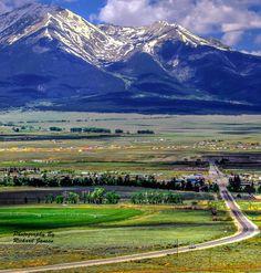 Highway into Buena Vista Colorado with Mount Princeton in the background; by Richard Jansen, 500px #Colorado