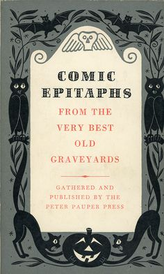 Comic Epitaphs book with Halloween cover