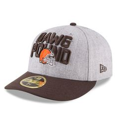 Cleveland Browns New Era 2018 NFL Draft Official On-Stage Low Profile  59FIFTY Fitted Hat – Heather Gray Brown 96dbf846aba9