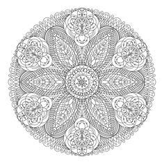Mandala dentelle fleurs                                                                                                                                                                                 Plus