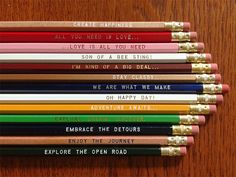 I can't get enough of pencils with fun messages. Pick a Pencil 12 Pack  by Earmark, 15.00