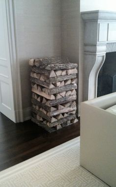 Love the way this wood is stacked - via Brian Gluckstein