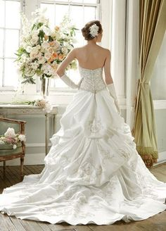 David's Bridal Wedding Dress.  Love love love