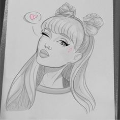 Pin on Zeichnungen Girl Drawing Sketches, Cartoon Girl Drawing, Pencil Art Drawings, Easy Drawings, Drawing Ideas, Drawing Art, Cartoon Drawings Of People, Disney Drawings, Drawing Disney