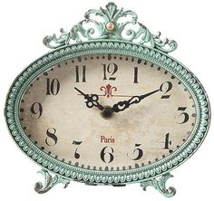 Special Offers - Lily Table Clock 6.25Hx6.5Wx2.25D AQUA - In stock & Free Shipping. You can save more money! Check It (August 24 2016 at 04:35AM) >> http://wallclockusa.net/lily-table-clock-6-25hx6-5wx2-25d-aqua/