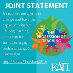 From our partners at  @kappadeltapi #KappaDeltaPi along with 14 other leading educational organizations have signed a joint statement to #StandWithTeachers by reinforcing the value of the teaching profession.  #teacher #education #futureteacher #newteacher  #JointStatementOnTeaching #goviewyou