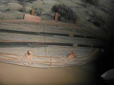 De 'Shshan' gemaakt van palmboom was de eerste gebruikte boot in Dubai.