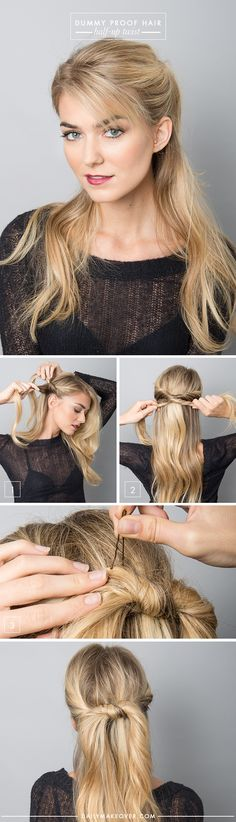 Half Up-Do - tips by Ric Pipino via @dailymakeover