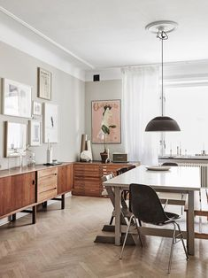 my scandinavian home: An Eclectic Century Swedish House Scandinavian Apartment, Scandinavian Interior Design, Scandinavian Home, Diy Home Decor, Room Decor, Living Spaces, Living Room, Dining Room Design, Kitchen Design