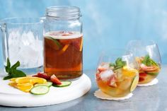 Summer is here! It's time to slap on the sunnies and sunscreen and head outdoors. Let your guests relax by the pool with a Classic PIMM's cocktail while you heat up the barbie.