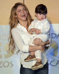 """Shakira wants to have her own """"futbol team"""" with her soccer star boyfriend, Gerard Pique. While the """"Hips Don't Lie"""" singer isn't looking to hit the field anytime soon, she does desire having more babies with her man … a lot more. Milan Pique, Shakira Hips, Shakira Mebarak, Love You Baby, Celebrity Kids, Baby Boy Fashion, Celebs, Celebrities, Actors & Actresses"""