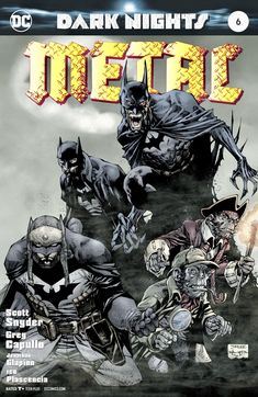 There's a lot to enjoy in today's Dark Metal: Knights by Scott Snyder and Greg Capullo as the event comes to its explosive, implosive and then Dc Comics Superheroes, Batman Comics, Fun Comics, Im Batman, Batman Art, Batman Metal, Comic Book Characters, Comic Books, Dark Knights Metal