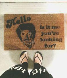funny doormats welcome mats ; funny doormats go away ; Cool Doormats, Funny Doormats, Lionel Richie, Welcome Mats, Humble Abode, Apartment Living, Apartment Ideas, Home Accents, Curb Appeal