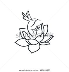 Birds in flower sign branding corporate concept logo isolated on white background by Steinar, via Shutterstock