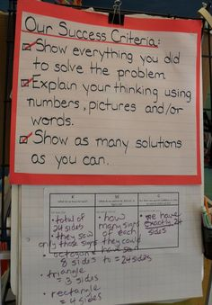 learning targets and success criteria math examples - Google Search