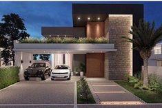 25 Ideas house architecture facade exterior design for 2019 Duplex House Design, House Front Design, Modern House Design, Home Building Design, Building A House, Facade Design, Exterior Design, Style At Home, Minimalist House Design