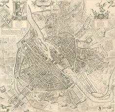 PARIS I Old Maps of Paris - Year 1609