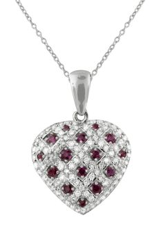 4f2742a80291 Effy Ruby and Diamond Heart Pendant - See more stunning jewelry at  StellarPieces.com!