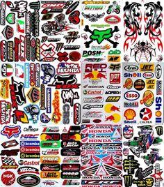 Monster Energy Rockstar Metal Mulisha Motocross Graphic Decal Motorcycle ATV Racing Sticker (12 Sheet)