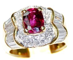 18K Yellow Gold Eternity Diamond and Wedding Ruby Ring [RB0020]